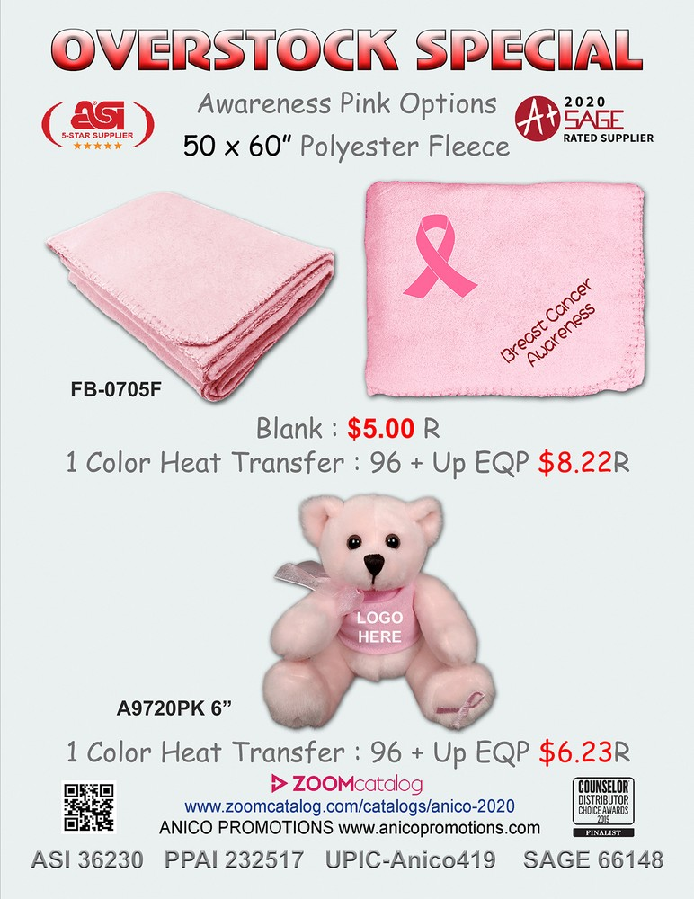 Overstock Special on Breast Cancer Awareness Items!